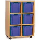 Jumbo 6 Tray Mobile Storage Unit