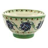 Green Floral 13.97cm Hand-Decorated French Bowl