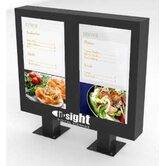 "Outdoor Digital Menu Board Enclosure for Two 46"" LCD"