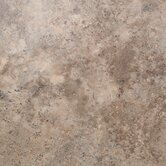 "Floorworks 18"" x 18"" Luxury Vinyl Tile in Travertine Gold"