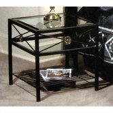 Neoclassic Glass End Table