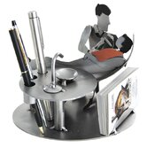 Desk Accessory Dentist with Patient Male Business Card Holder