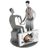 Desk Accessory Doctor with Male Patient Business Card Holder
