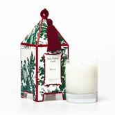 Classic Toile Holiday Pagoda Candle