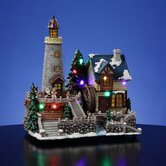 Santa's Animated Lighthouse Village