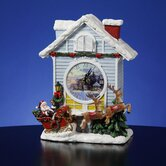 Christmas Cardinal Cuckoo Clock