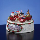Santa 'n Friends Spinning Cups Figurine