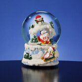 Snowman with Sleigh Snow Globe