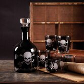 Curiosity Shop Skellington Skull and Crossbones Decanter