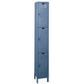 ValueMax One Wide Triple Tier Locker in Hallowell Gray (Unassembled)
