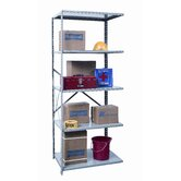Hi-Tech Shelving Medium-Duty Open Type Add-on Unit with 5 Shelves