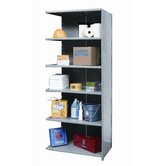 Hi-Tech Shelving Medium-Duty Closed Type Add-on Unit with 6 Shelves