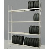 Rivetwell Shelving Tire Storage Starter Unit with 4 Levels