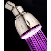 5 Second Color Changing Fixed LED Illuminated Shower Head