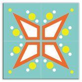 Earth Quads Decorative Tile Quad in Mod Star Teal