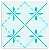 Folksy Love Decorative Tile in Glass Green