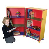 Primary Coloured Mobile Fold Away Bookcase
