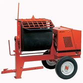 6PR-GH9 - 6 cu ft Mortar Mixer Poly - 9 HP Honda w/ Options