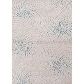 Coastal Living(R) Hand-Tufted Aqua Foam Abstract Rug