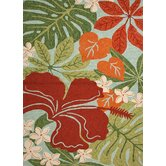 Coastal Living(R) I-O Blue Floral Indoor/Outdoor Rug