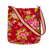 Floral Butterfly Messenger Bag
