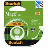 Magic Office Tape with Refillable Dispenser, 1/2&quot; x 12-1/2 Yards, Clear