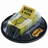Flag Dispenser, &quot;Sign &amp; Date&quot;, Bright Green, 200 Flags per Dispenser
