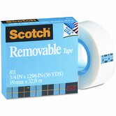 "Removable Tape, 3/4"" x 36 Yards, 1"" Core"