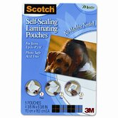Self-Sealing Laminating Pouches, 9.6 mils, 4 x 6, 5/Pk