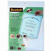 Scotch Display Pocket with Removable Interlocking Fasteners