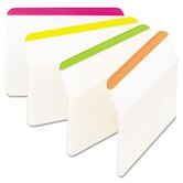 Durable tabs, 2w x 1 1/2h, assorted fluorescent, 24/pack