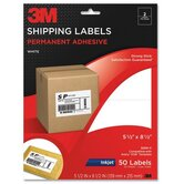 "Shipping Labels,Inkjet Paper,5-1/2""x8-1/2"",50/PK,White"