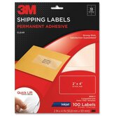 "Address Labels,Inkjet Film,2""x4"",100/PK,Clear"