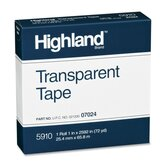 "Transparent Tape, 1""x2592, 3"" Core, Clear"