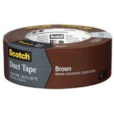 "1.88"" x 60 Yards Scotch Duct Tape in Brown"