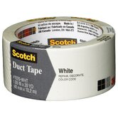 "1.88"" x 20 Yards Scotch White Duct Tape"