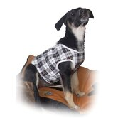 Fashion Checked Dog Vest and Lead
