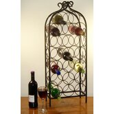 20 Bottle Wrought Iron Style Wine Rack