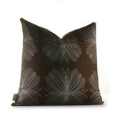 Aequorea Organic Pillow in Chocolate and Silver