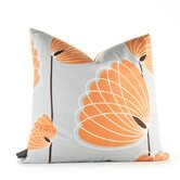 Aequorea Lotus Pillow in Silver and Sunshine
