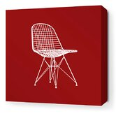 Modern Classics 1951 Stretched Wall Art in Scarlet and Chocolate