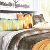 Aequorea Organic Bedding Collection in Chocolate and Silver