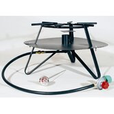 Heavy Duty Jet Burner Outdoor Cooker Package with Baffle and Flat Bar Legs