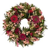 Zinnia Dance Wreath