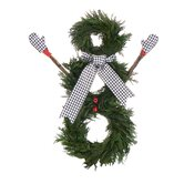 Houndstooth Holiday Snowman Wreath