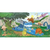 Personalized Canvas Dino Boy Wall Mural