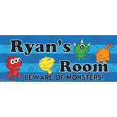 Personalized Canvas Name Sign Monster Boy