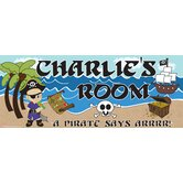Personalized Canvas Pirate Boy Name Sign