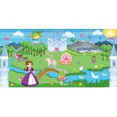 Personalized Canvas Wall Mural Princess Girl