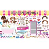Peel and Play Pet Boutique Wall Play Set